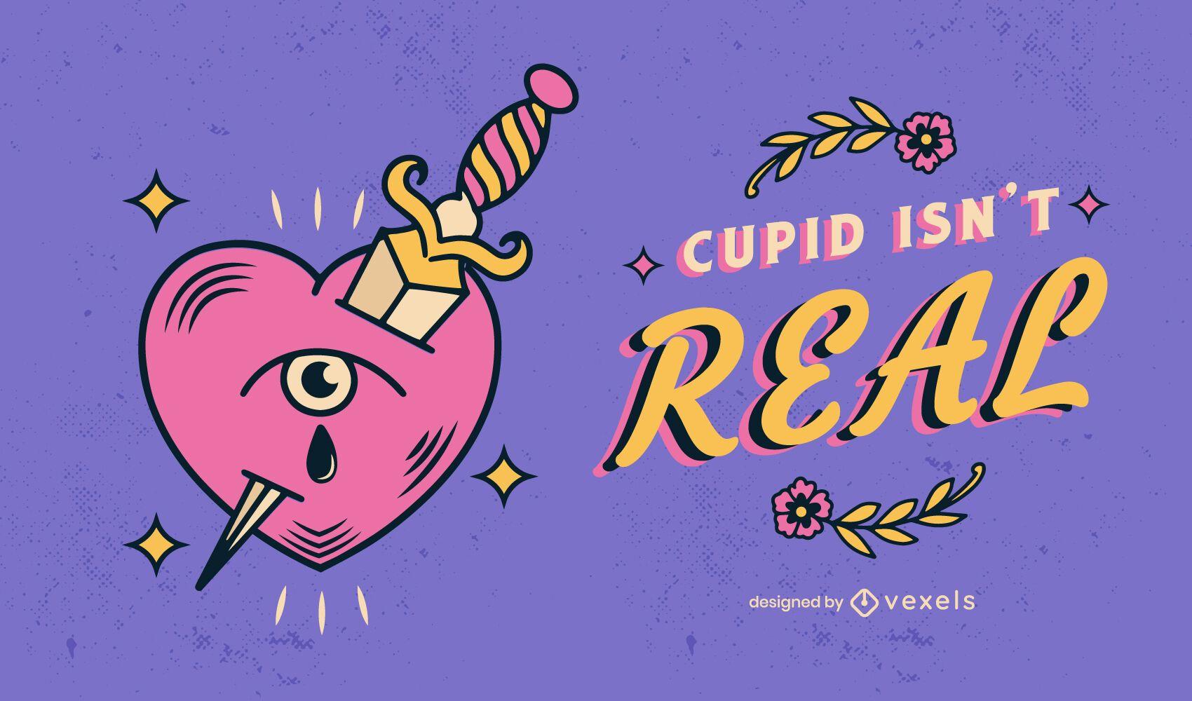 Ilustración de cita anti San Valentín
