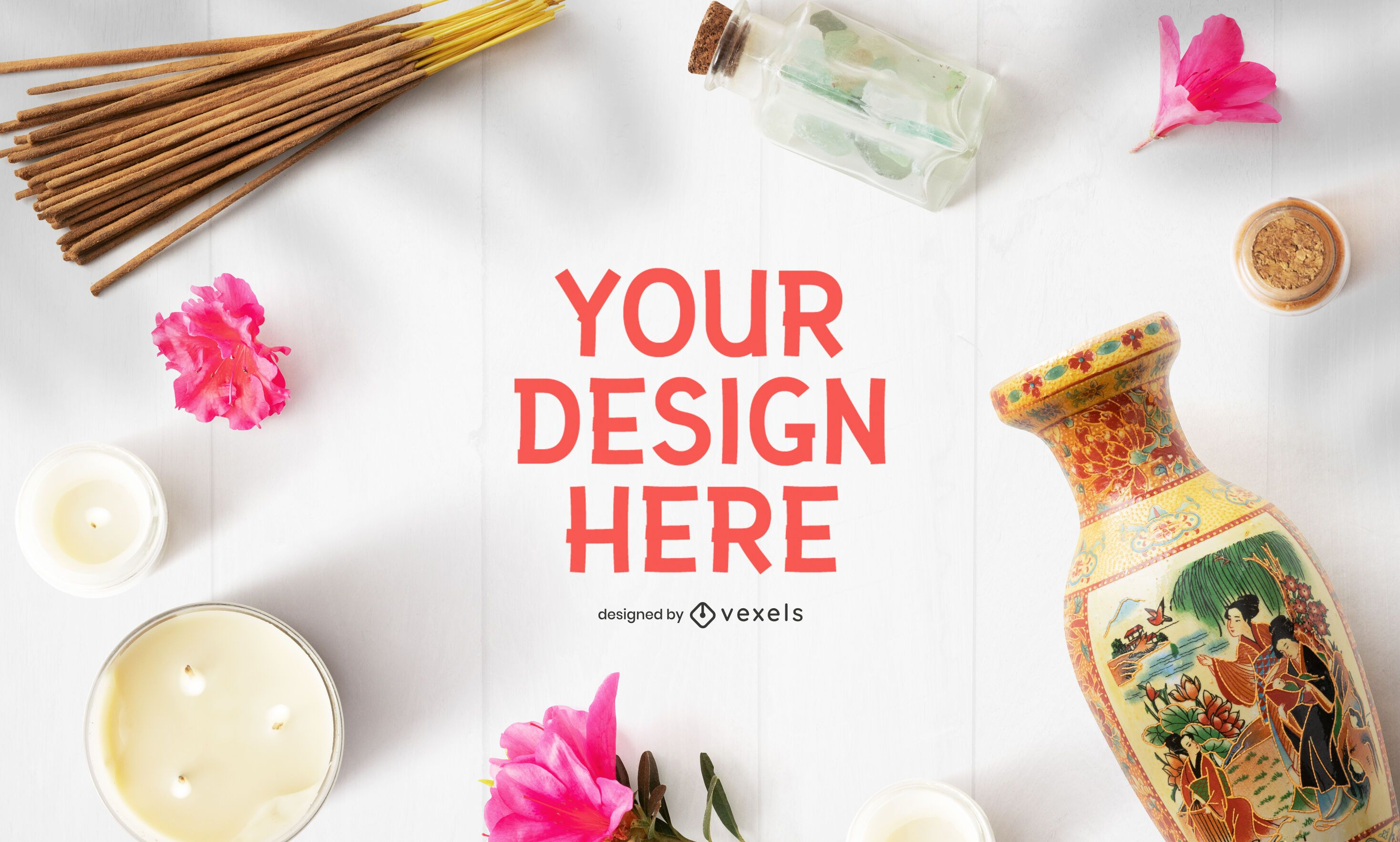 Chinese mockup psd composition
