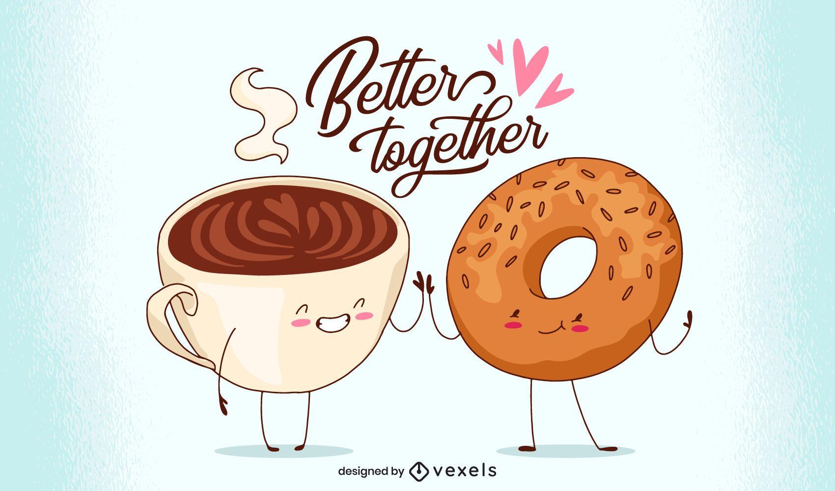 Better together illustration design