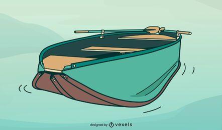 Diseño de ilustración de bote de cría