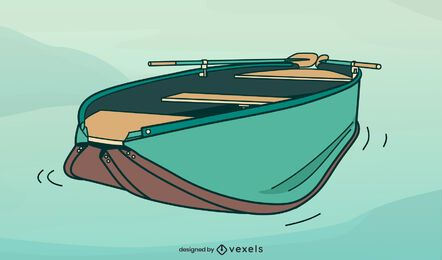 Foalding boat illustration design