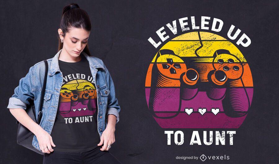 Leveled up t-shirt design