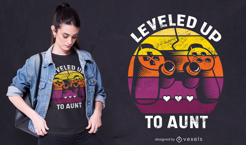 Diseño de camiseta nivelado
