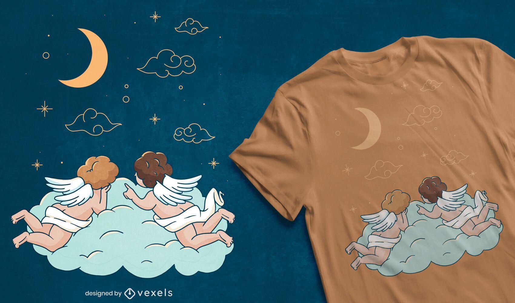 Diseño de camiseta baby angels