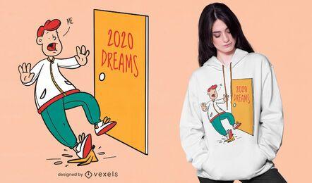 Diseño de camiseta de sueños 2020