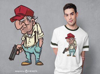 Diseño de camiseta de hombre viejo