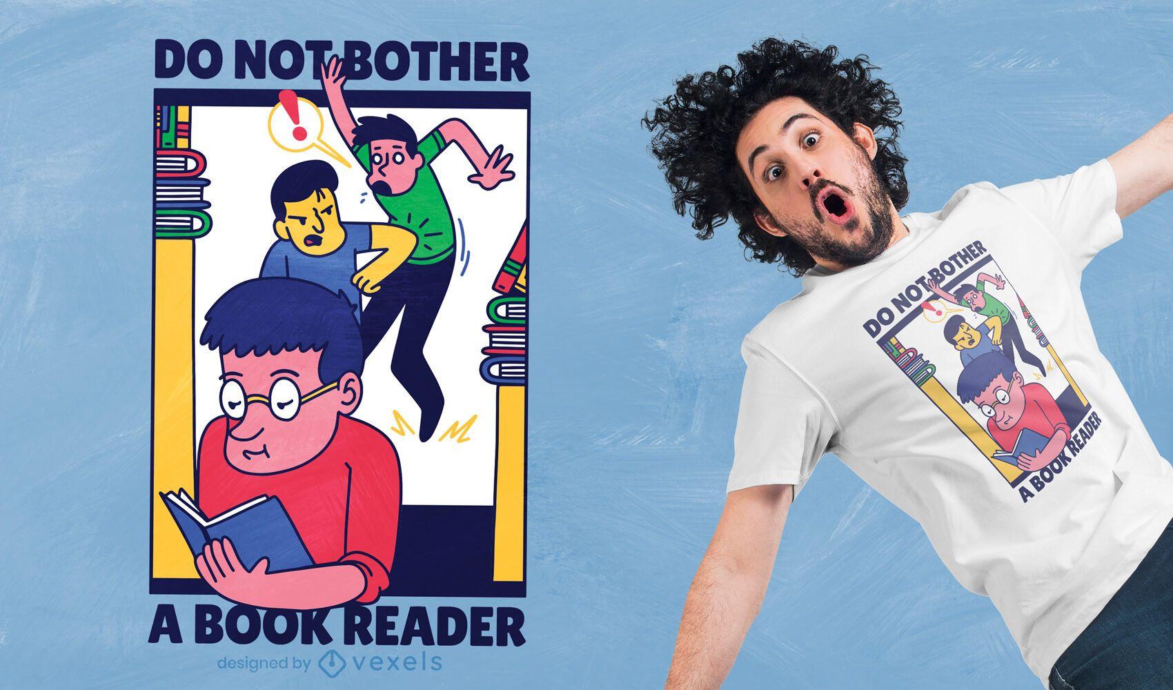 Book reader t-shirt design