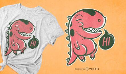 Diseño de camiseta de dinosaurio lindo