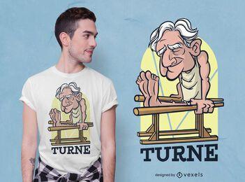 Diseño de camiseta de gimnasio hombre viejo