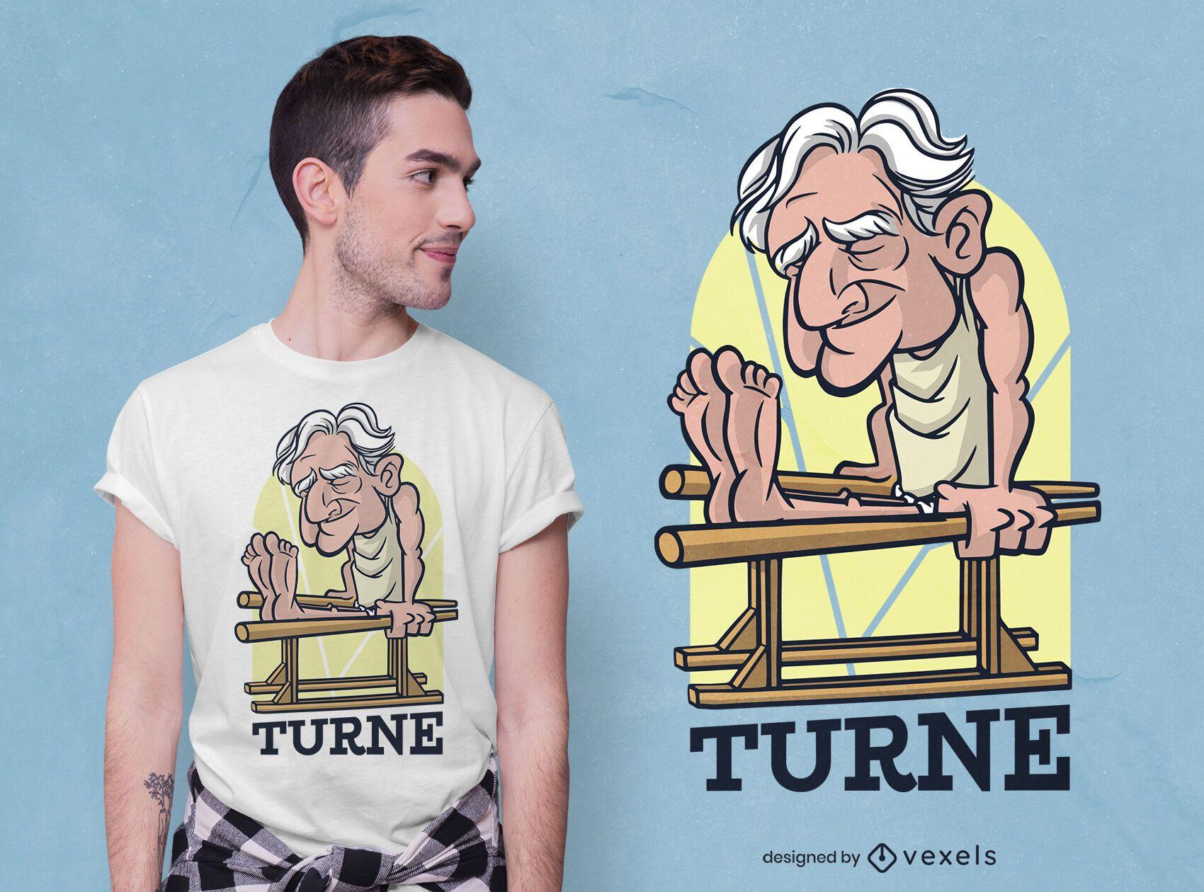 Old man gym t-shirt design