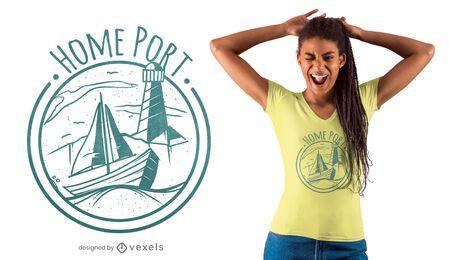 Diseño de camiseta de puerto base
