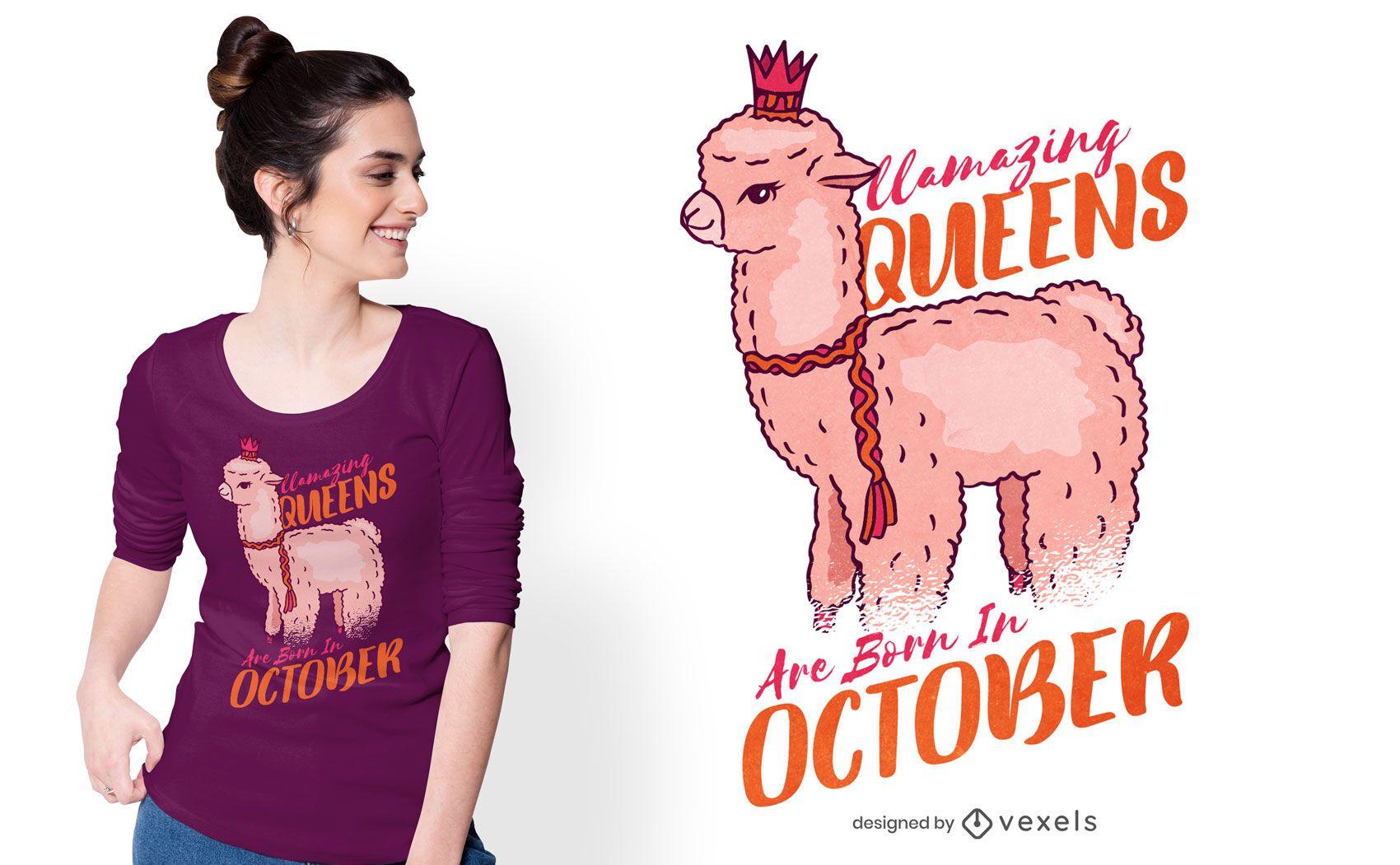Llamazing queens t-shirt design
