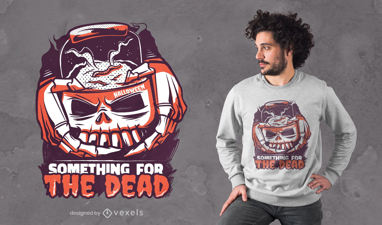 Skull bucket t-shirt desing