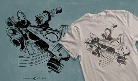 Diseño de camiseta sextante