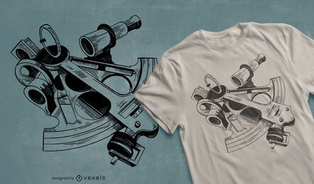 Sextant t-shirt design