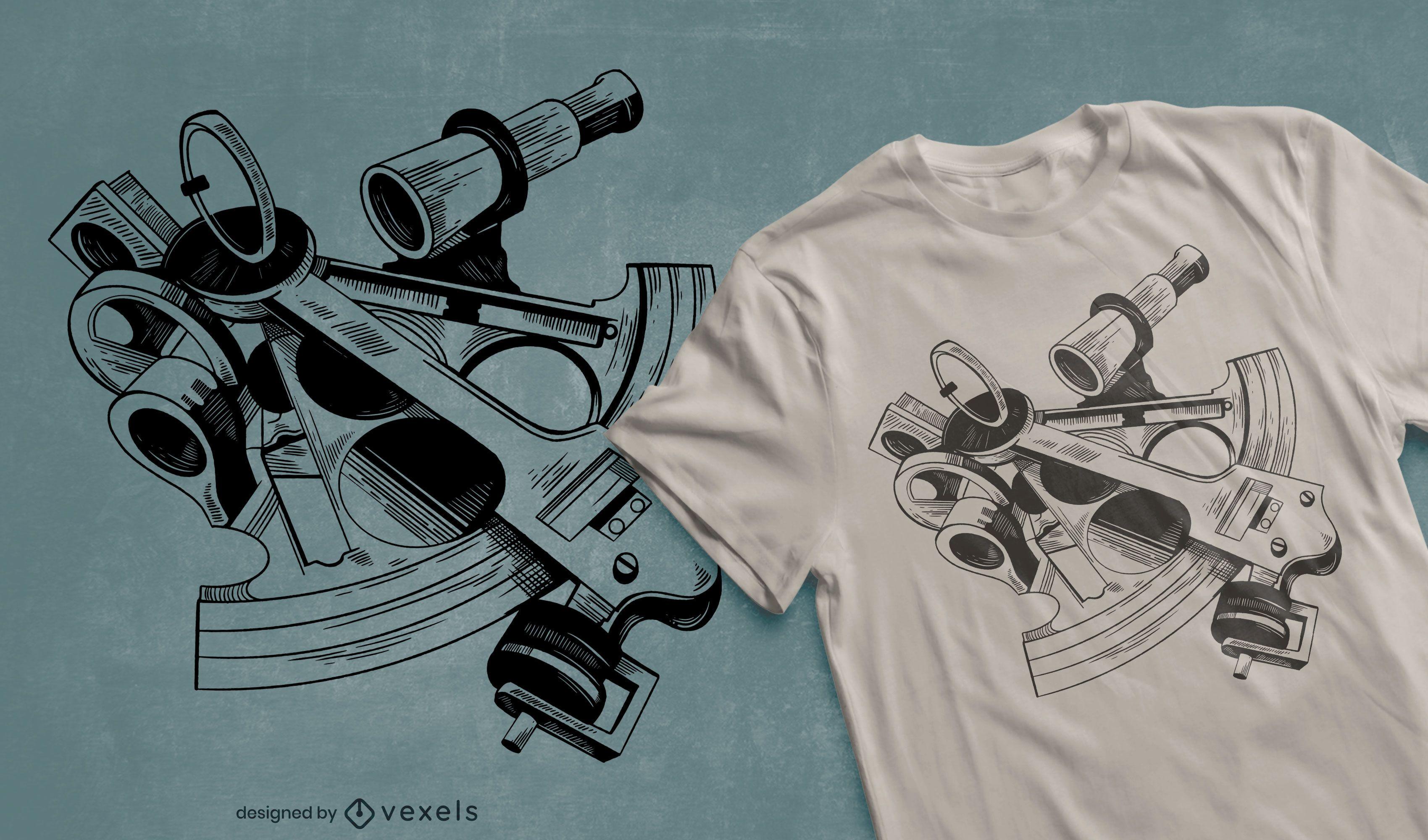 Sextant t-shirt design