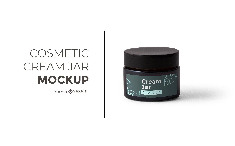 Cosmetic cream jar mockup design