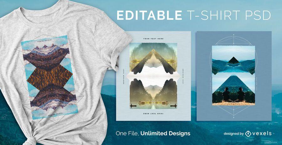 Mirror t-shirt design psd