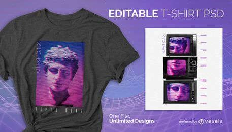 Diseño de camiseta estática de tv psd