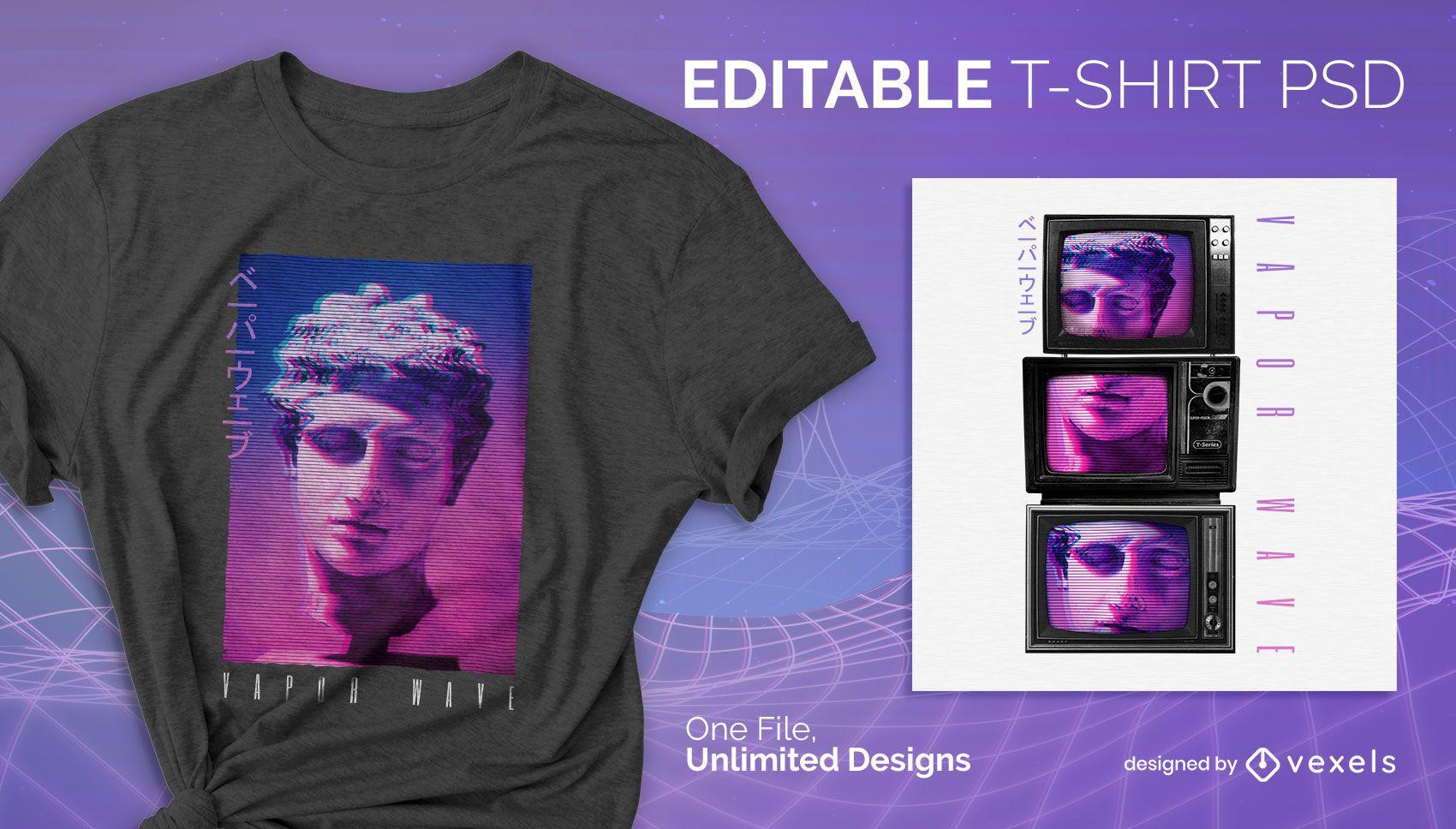 TV statische T-Shirt Design psd
