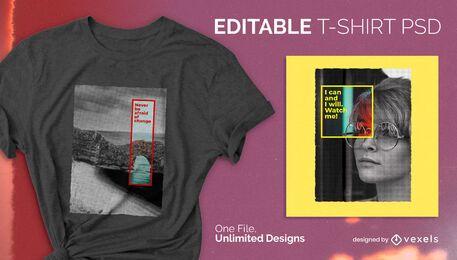 Farbquadrat skalierbares T-Shirt psd