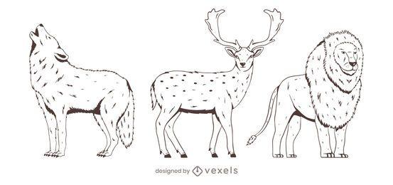 Tier handgezeichnetes Set-Design