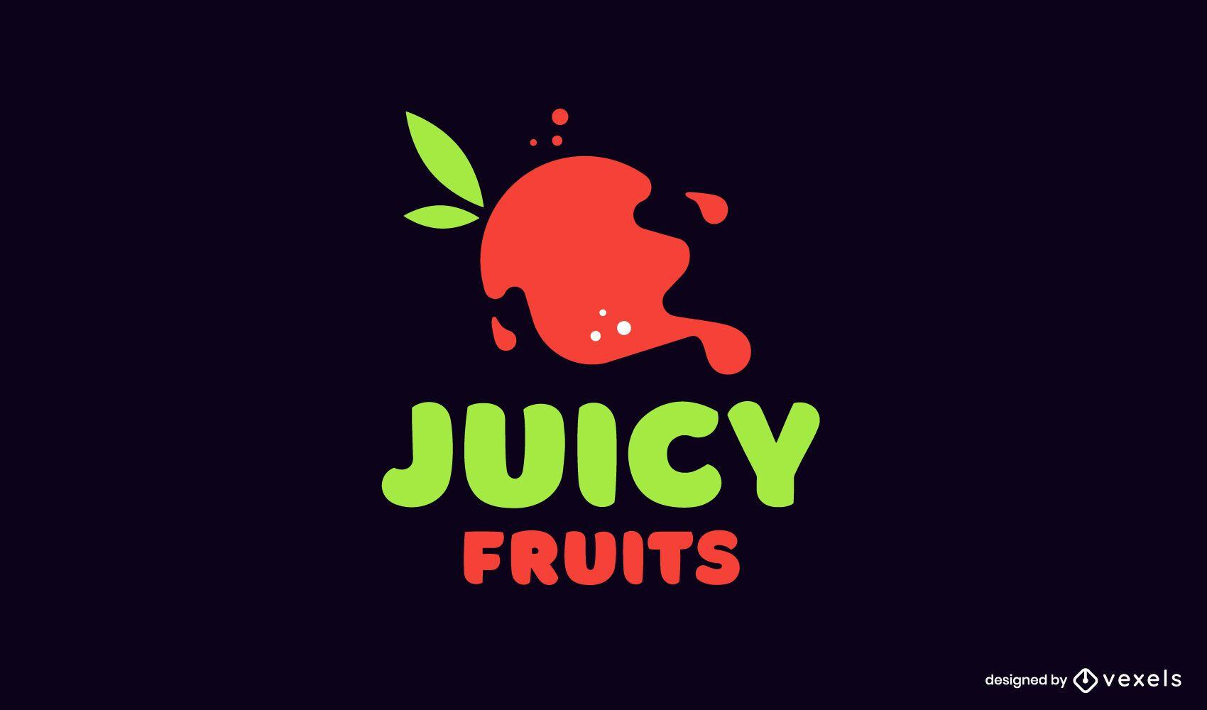 Juicy fruits logo template
