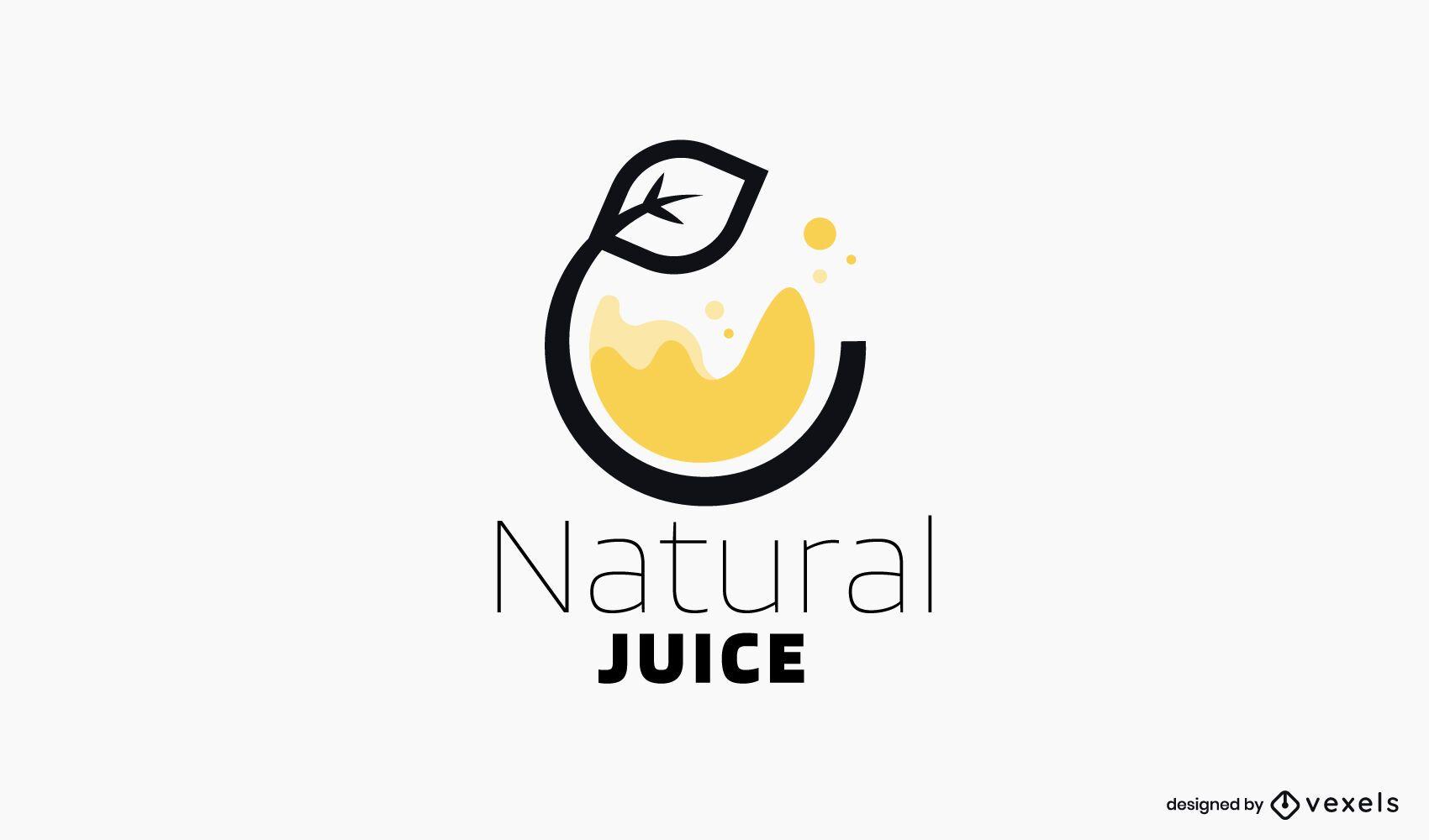 Modelo de logotipo de suco natural