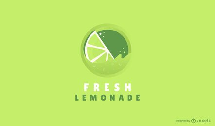 Fresh lemonade logo template