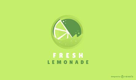 Modelo de logotipo de limonada fresca