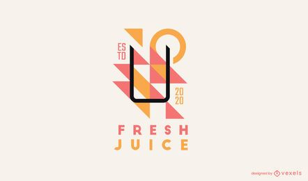 Fresh juice logo template