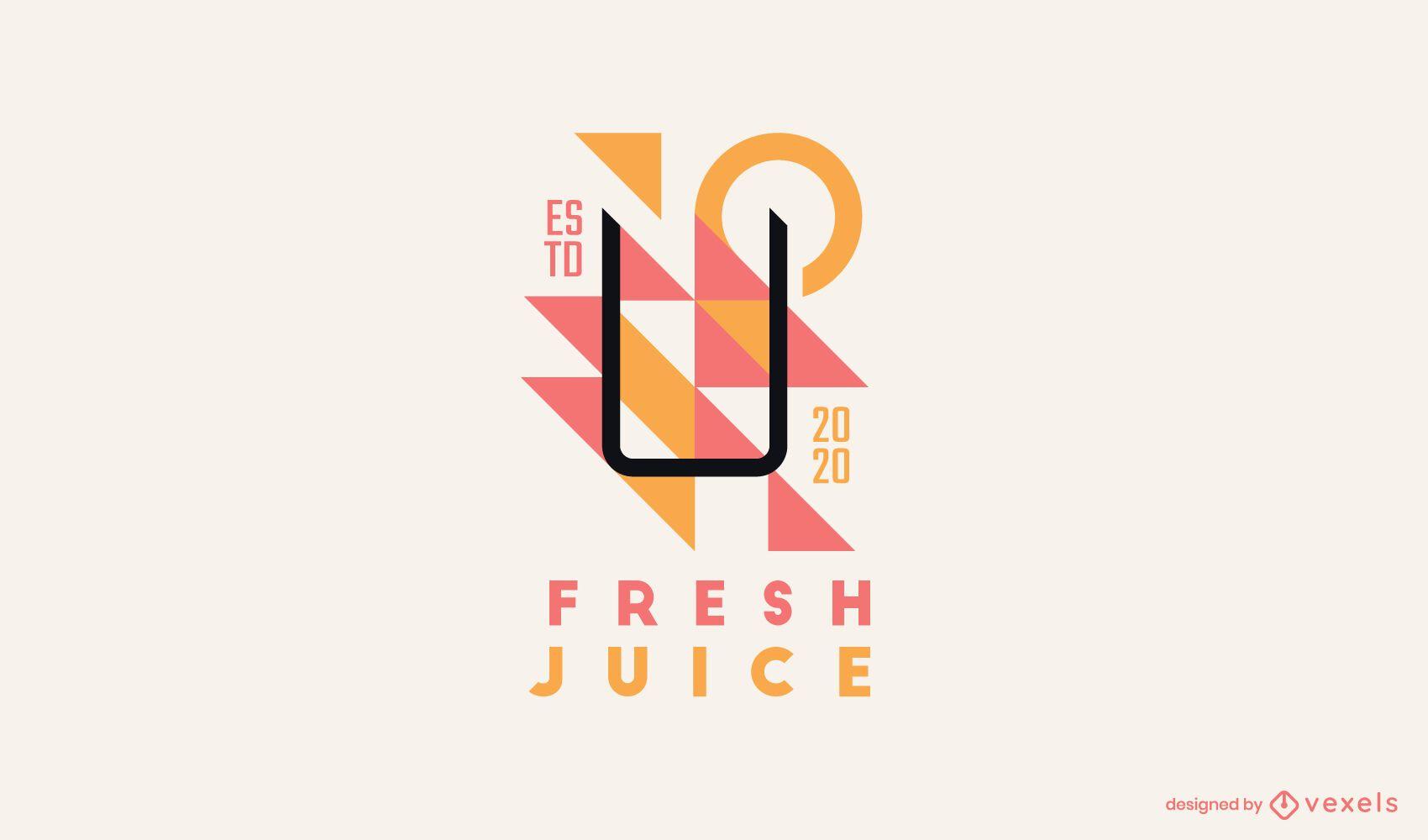 Fresh juice logo template