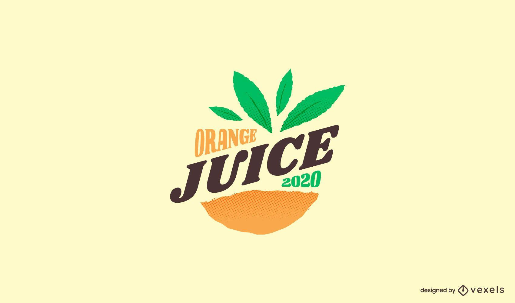 Orange juice logo template