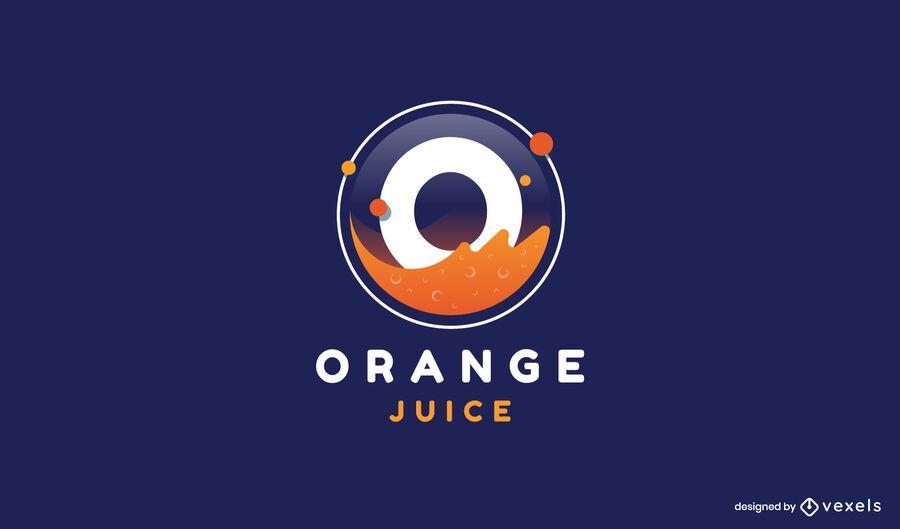 Modern orange juice logo template
