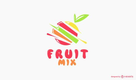 Fruit mix logo template