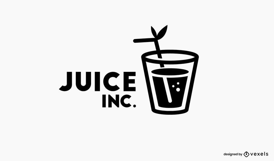 Plantilla de logotipo de jugo inc