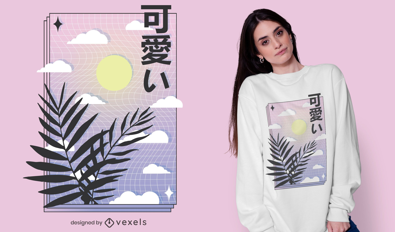 Vaporwave sky t-shirt design