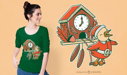Kuckuck Weihnachten T-Shirt Design