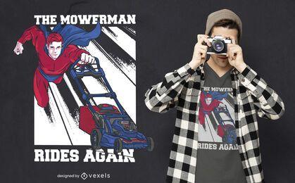 El diseño de la camiseta Mowerman
