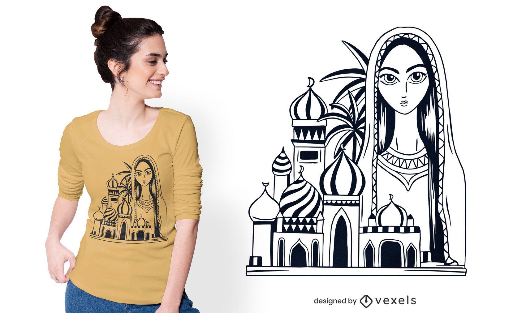 Diseño de camiseta de Bagdad