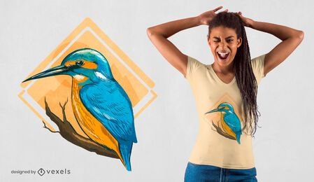 Kingfisher bird t-shirt design