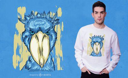 Design de camiseta de cegonha-bico-de-sapato