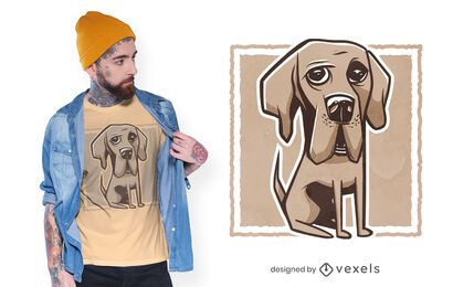 Design de t-shirt de Dogue Alemão