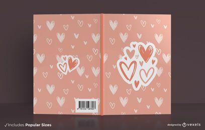Love hearts book cover design