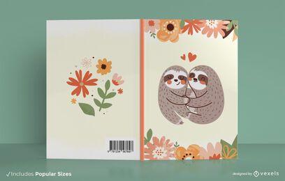 Diseño de portada de libro de perezosos