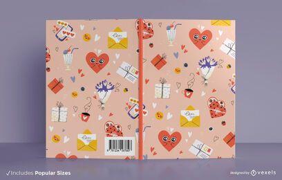Diseño de portada de libro de san valentín