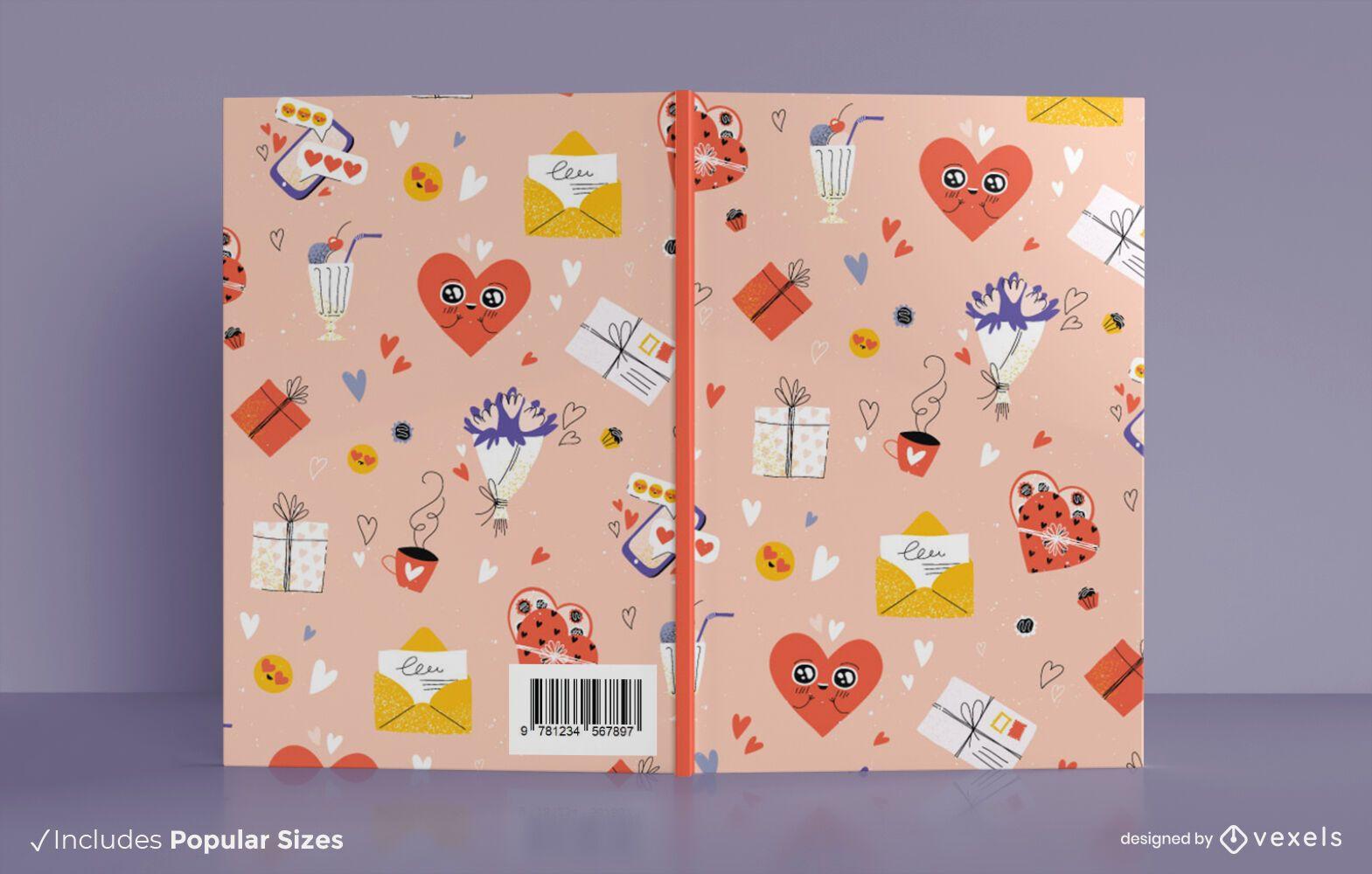 Design da capa do livro do dia dos namorados