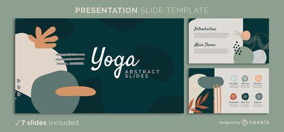 Plantilla de presentación abstracta de yoga
