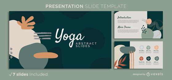Yoga abstract presentation template
