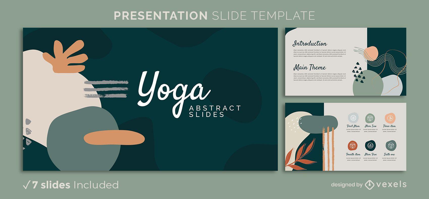 Abstrakte Präsentationsschablone des Yoga